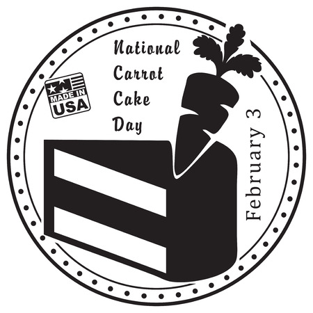 National Carrot Cake Day, February 3 in the United States of America Иллюстрация
