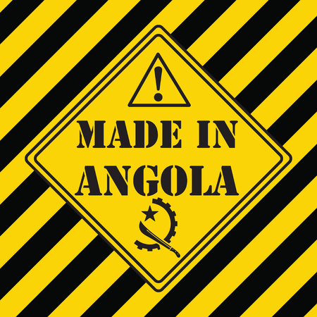 The industrial symbol is made in Angola Illustration
