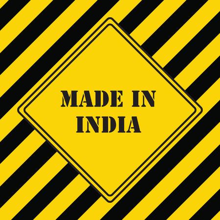工業シンボルはインド製  イラスト・ベクター素材