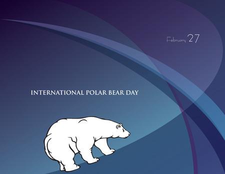 Poster for the February event - International Polar Bear Day Illustration