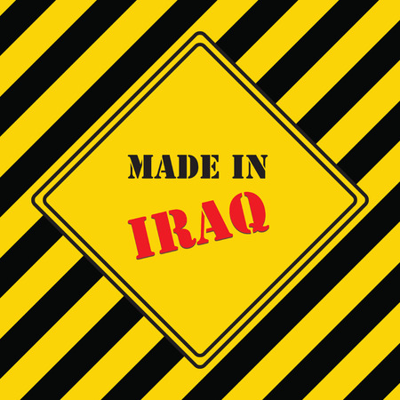 The industrial symbol is made in Iraq Illustration