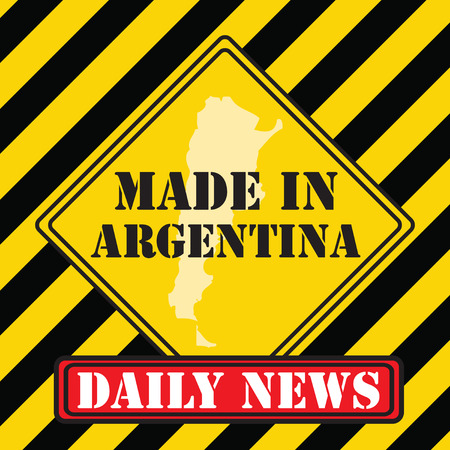 Symbol Daily News - Made in Argentina. Vector illustration.