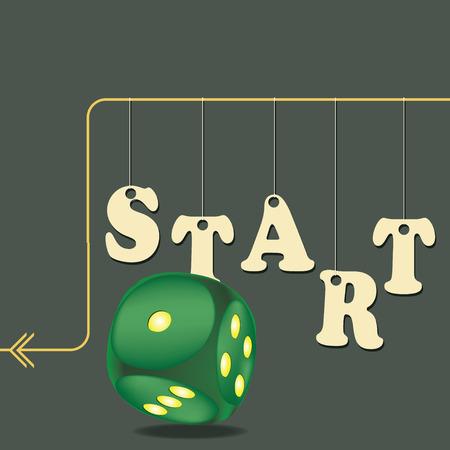 Start the game in a cube - step by step 版權商用圖片 - 95259061