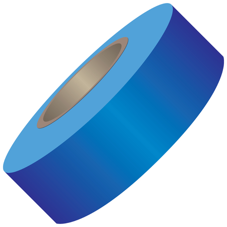 Industrial restrictive tape for repair work. Vector illustration.