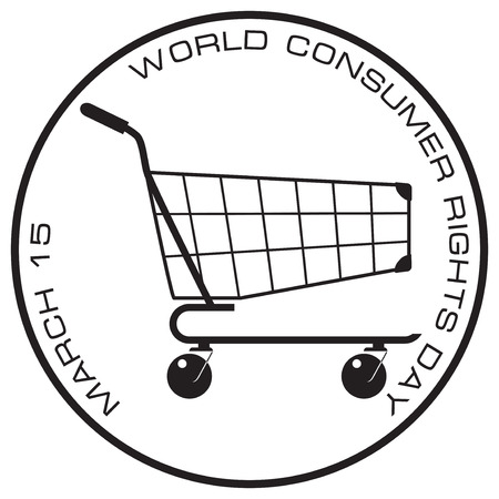 Stamp protection of consumer rights for the worldwide celebration of consumer protection in March