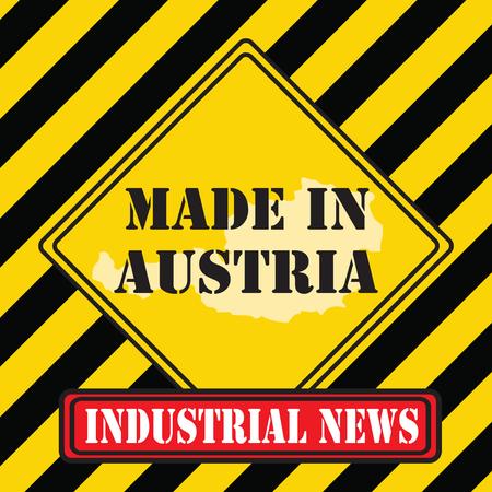 Industrial news - made in Austria. Vector illustration.