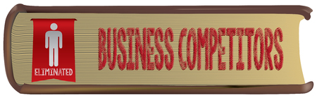 Thick old business book - eliminated business competitor