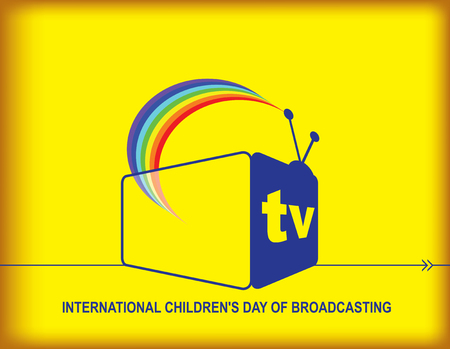 Poster - Positive news. International Childrens Day of Broadcasting