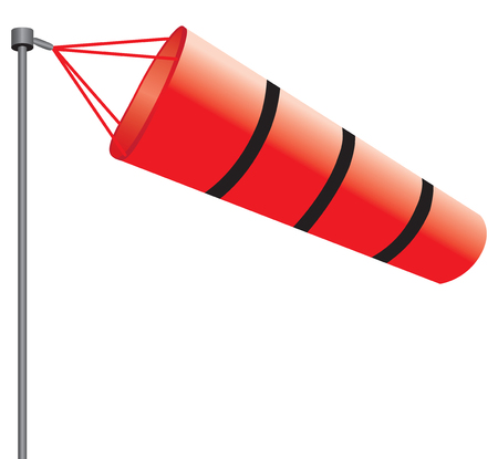Wind gauge in the form of a bag for use in meteorology