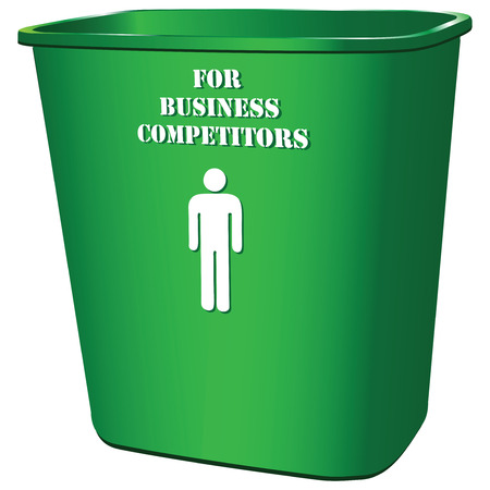The symbol of the destruction of competitors in business Vector illustration.
