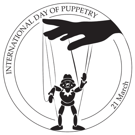 The symbol for the International Day of the Puppeteer