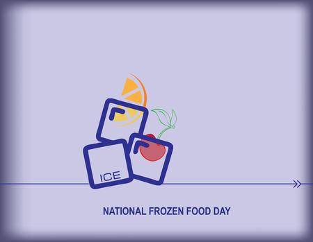 National Frozen Food Day poster design Zdjęcie Seryjne - 97558805
