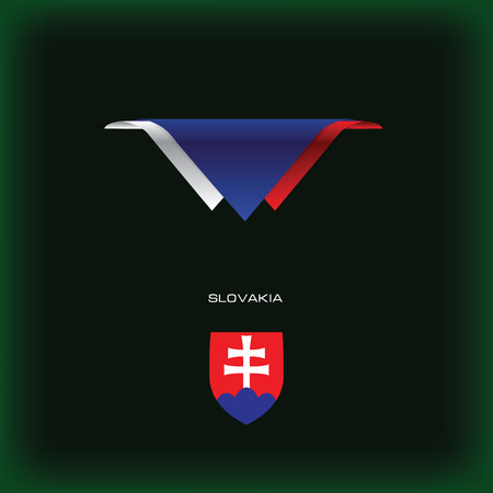 The combination of colors of the national flag Slovakia.