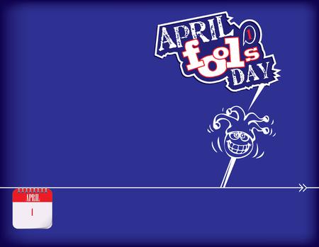 Calendar holiday of April for April Fool's Day Poster Иллюстрация