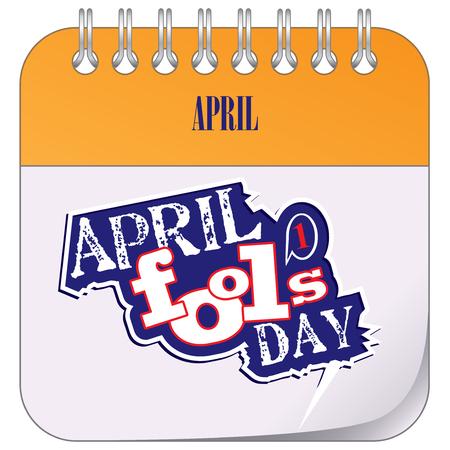 Calendar holiday of April - April Fool's Day.