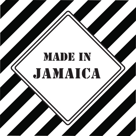 made in jamaica black and white icon Vector illustration.