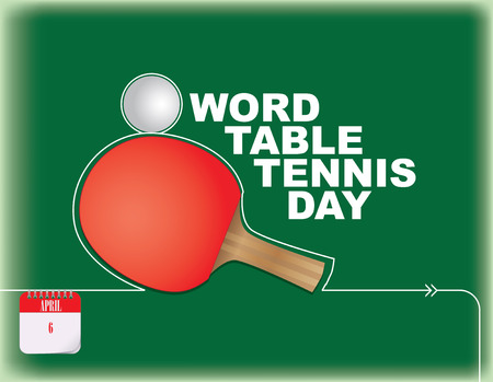 Festive poster for Word Table Tennis Day