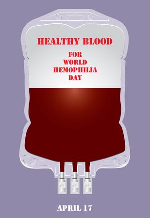 Healthy blood for World Hemophilia Day Illustration