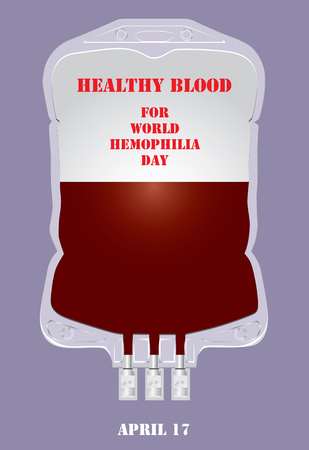 Healthy blood for World Hemophilia Day Illustration