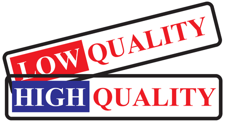 Two labels for high and low quality