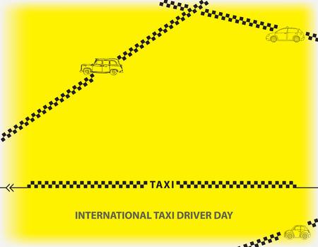 International Taxi Driver Day illustration on yellow background Illusztráció