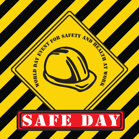 Industrial symbol of security for the April World Day event for Safety and Health at Work Illustration