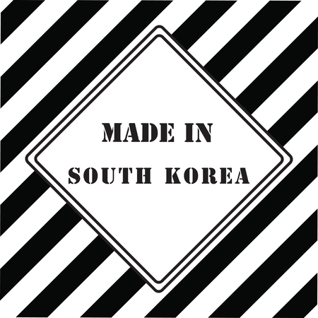 The industrial symbol is made in South Korea Illustration