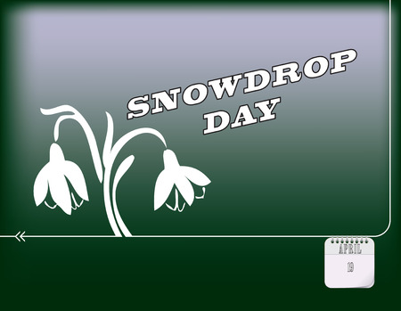 Holiday poster for Happy Snowdrop day vector.