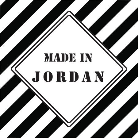 The industrial symbol is made in Jordan.