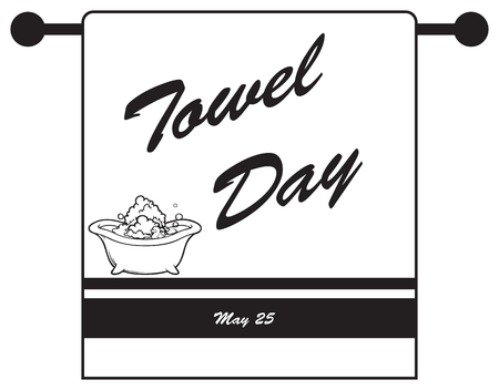 Holiday in May - Towel Day. Vector illustration. Фото со стока - 100252380