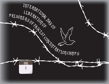 Poster template for International day of liberation of prisoners Illustration