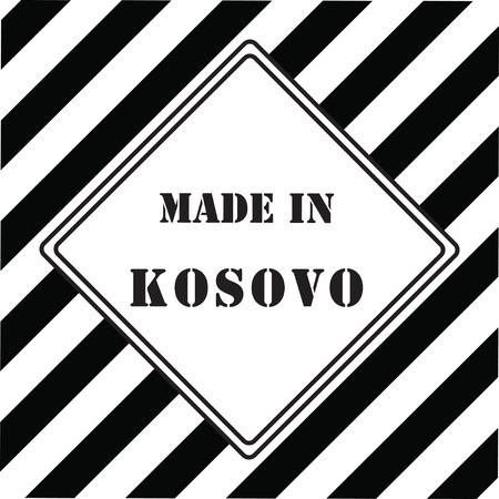 The industrial symbol is made in Kosovo Ilustração