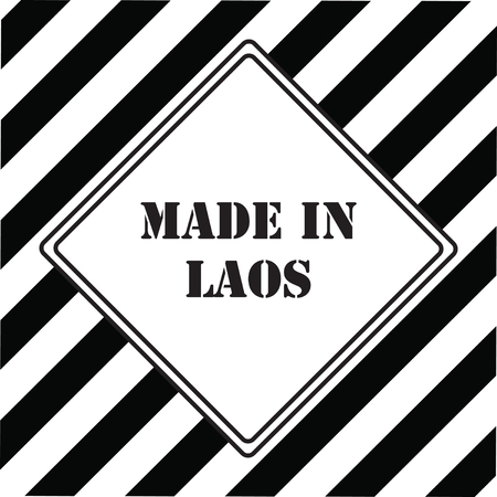 The industrial symbol is made in Laos