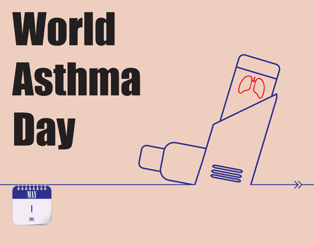 Calendar holiday of May - World Asthma Day