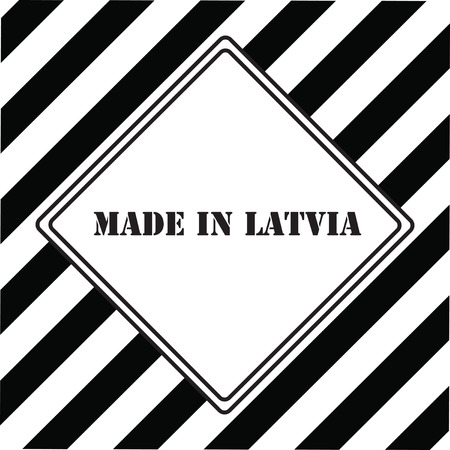 The industrial symbol is made in Latvia Illustration