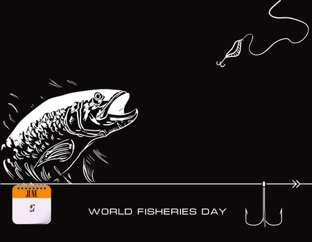 Calendar events of June - Congratulations for World Fisheries Day