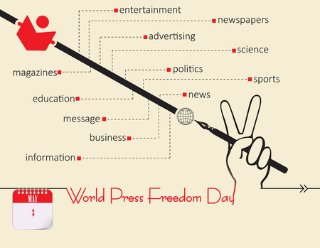 Calendar holiday of May - Post Card World Press Freedom Day
