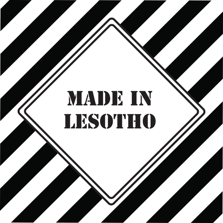 The industrial symbol is Made in Lesotho