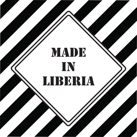 The industrial symbol is Made in Liberia  イラスト・ベクター素材