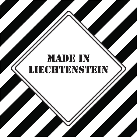 The industrial symbol is Made in Liechtenstein