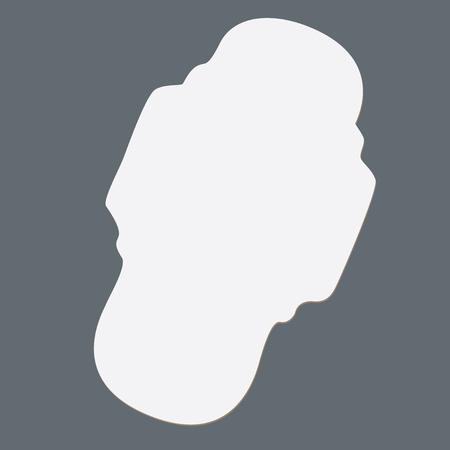 予防目的のための女性の生理用ナプキン。ベクターの図。