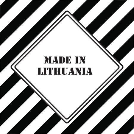 The industrial symbol is Made in Lithuania