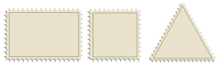 A set of forms for postage stamps.