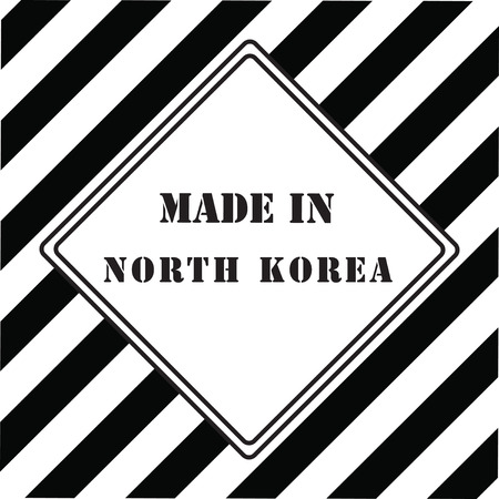 The industrial symbol is made in North Korea Çizim