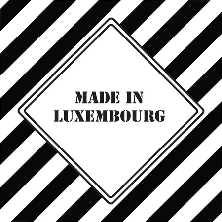 The industrial symbol is Made in Luxembourg