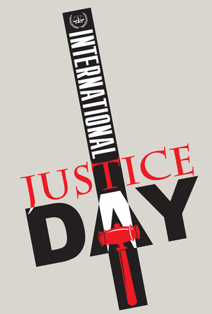 Poster to the International Justice Day in July