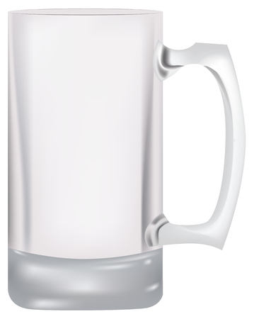 Classic glass empty beer glass. Vector illustration.