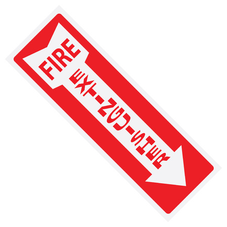 Fire extinguisher sign sticker for wall. Vector illustration. Banque d'images - 104969647