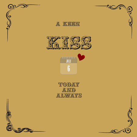 A keen kiss today and always - old post card