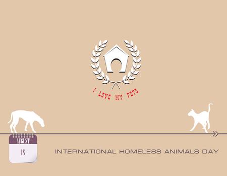 Calendar events of August - Congratulations for International Homeless Animals Day